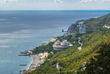 View of the Crimean Black Sea coast