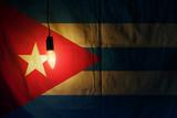 Cuban flag lit lamp