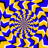 Psychedelic optical spin illusion vector background - 123415129