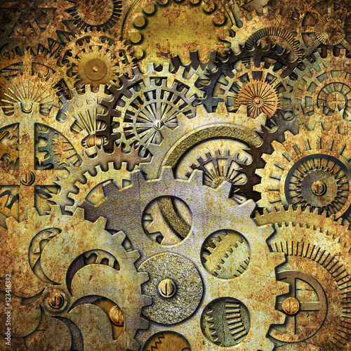 metallic gears background © Kseniia Veledynska