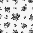 Vintage seamless pattern with roses. Vector floral background