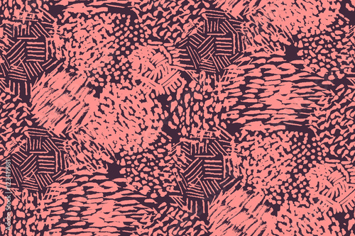 Materiał do szycia Seamless pencil scribble pattern in pink