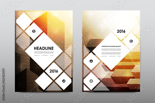 Foto op Canvas Bloemen vrouw Brochure layout template flyer design vector, Magazine booklet cover abstract background