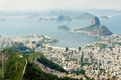 Poster Panorama of Botafogo Bay and Sugar Loaf Mountain, Rio De Janeiro, Brazil