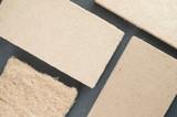 compressed thermal insulating hemp fiber panels - slate background - 123450120