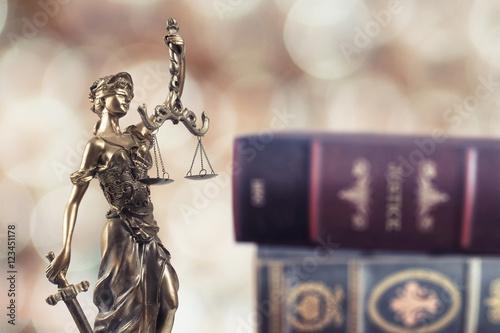 Fototapeta Justice Symbol and Books