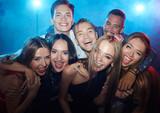 Friends in nightclub