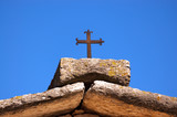 Stone Roof with a Cristian Cross - Lessinia Italy