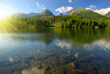 Mountain lake Strbske pleso in National Park High Tatras, Slovakia, Europe