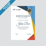 Certificate decorated template with modern shapes vector