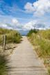 Leinwanddruck Bild - Dünenweg zum Strand in Heiligenhafen, Schleswig-Holstein