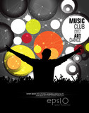 Discotheque background for poster. Vector