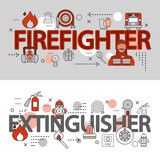 Fire Department Line Banner Set