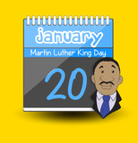 Martin Luther King Day Calendar – Character Vector