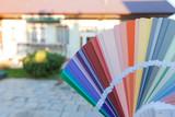Choosing a new color of the facade. - 123493343