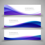 Set of banner templates.  Modern abstract Vector Illustration de