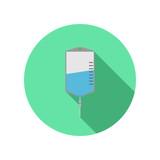 saline bag vector icon