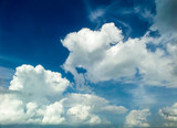 White cloud and the blue sky
