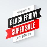 Black Friday Super Sale banner, up to 80% off