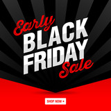Early Black Friday Sale banner, shop now.