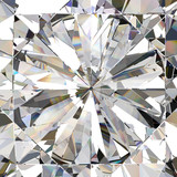 Realistic diamond with caustic close up texture, 3D illustration.  - 123514502