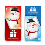 Collection of christmas gift voucher tag banner promotion sale d