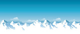 Fototapety Vector illustration of snowy Himalaya mountains