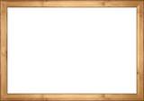 empty wooden retro picture or blackboard frame with bamboo wood isolated on white background / Holzrahmen Bambus isoliert auf weißem Hintergrund