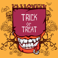 halloween trick or tread objects A