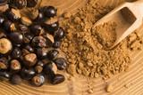 Fototapety Guarana seeds and powder