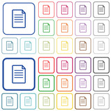 Document color outlined flat icons