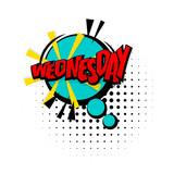 Comic red effects pop art word wednesday half week