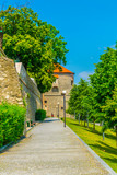 alley leading next to fortification of the bratislava castle