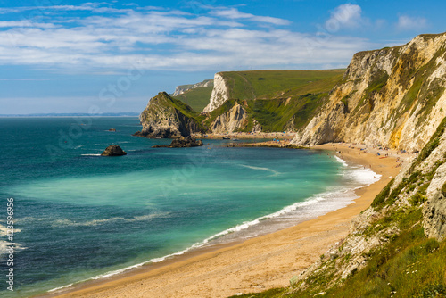 Dorset Coastline on a hot summer day Poster