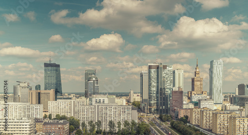 Warsaw Downtown skyline, Polandl - 123615764