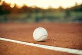 Baseball ball on the pitchers mound
