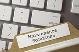 Folder Register with Maintenance Solutions. 3D.