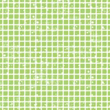 Seamless vecteur de damier. fond vert géométrique Creative avec des carrés. Grunge texture avec attrition, les fissures et ambrosia. Old style design vintage. Illustration graphique.