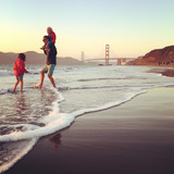 travel familly in road trip in San Francisco