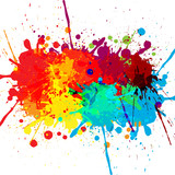Fototapety abstract splatter color design background. illustration vector d