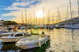 Trogir marina at sunset - 123663303