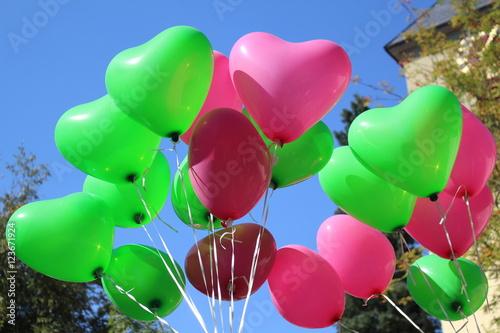 Herzluftballons Poster