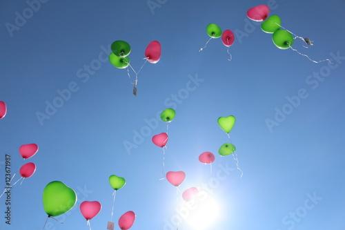 fliegende Luftballons II Poster
