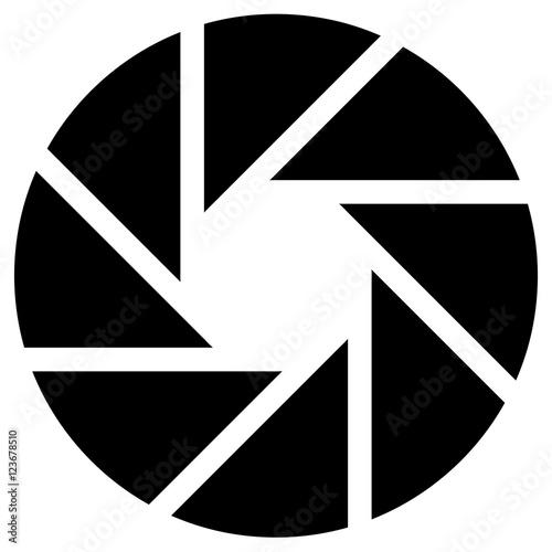 Diaphragm like circular symbol for photography, technology, gene - 123678510