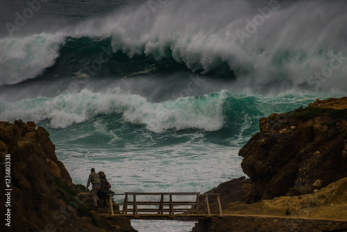 freak wave  at the coastline Poster