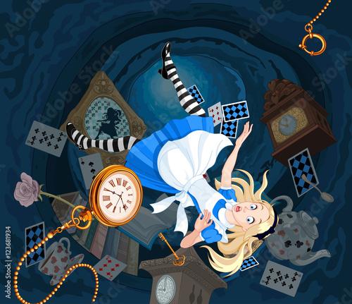 Plexiglas Meisjeskamer Falling Alice