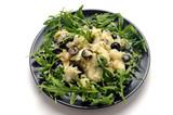 Cod insalata y Eruca vesicaria Cá tuyết salad và rau arugula Gadus macrocephalus morhua Kabeljo Baccalà 바칼라 Merluzzo Klipfisk Cod Klippfiskur Cuisine Sušeni bakalar Klipvis Bakala