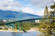 Lions Gate Bridge at Stanley Park in Vancouver