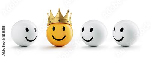 Smiley mit Krone und Freunden