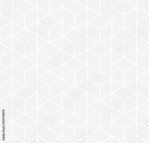 Vector modern abstract geometry grid pattern. gray seamless geometric background . subtle pillow and bed sheet design. creative art deco. hipster fashion print - 123709979